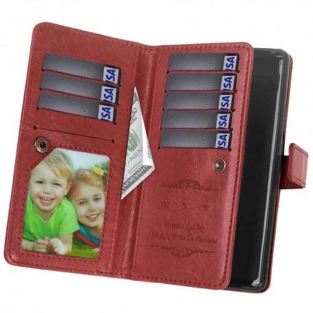 Dubbelflip Flexi 9-kort mobilplånbok Nokia 8 Sirocco mobilskal CaseOnline.se