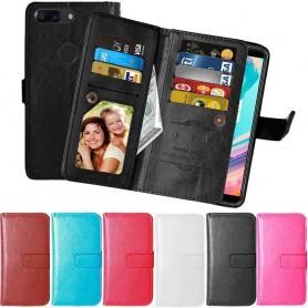 Mobil lommebok Dobbelt flip Flexi 9-kort OnePlus 5T mobilt skall caseonline.se