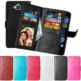 Kannettava lompakko Double Flip Flexi 9 -kortti Huawei Y6 Pro TIT-L01 kannettava kansi caseonline.se