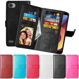 Mobil lommebok Dobbelt flip Flexi LG Q6 mobil deksel