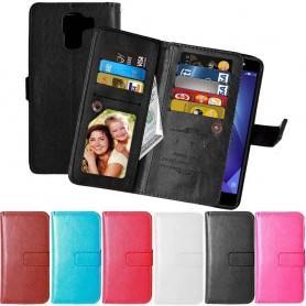 Kannettava lompakko Kaksinkertainen läppä Flexi Huawei Honor 7 -kotelo matkapuhelimen kotelo