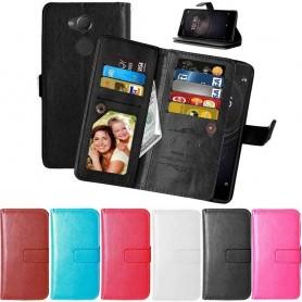 Mobilplånbok Dubbelflip Flexi 9-kort Sony Xperia XA2 mobilskal fodral