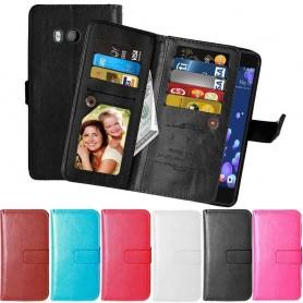 Mobil lommebok Dobbeltvipp Flexi 9-kort HTC U11 mobil deksel CaseOnline.se