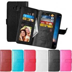 Dubbelflip Flexi 9-kort Huawei Mate 10 mobilskal fodral