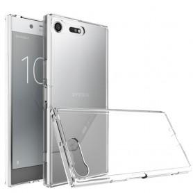 Mobile Shell Clear Hard TPU trenger Sony Xperia XZ Premium beskyttelse