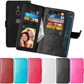 Mobilplånbok Dubbelflip Flexi 9-kort Sony Xperia XZ2 mobilskal