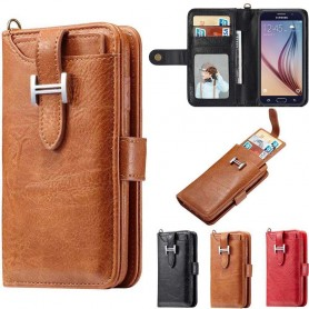 Multiplånbok 3i1 9-kort Samsung Galaxy S6 mobilskal