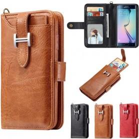 Monikäyttöinen lompakko 3i1 9 -korttiinen Samsung Galaxy S6 Edge -kotelo