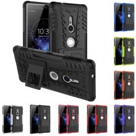 Stöttåligt skal Sony Xperia XZ2 mobilskal 2i1 skydd silikon