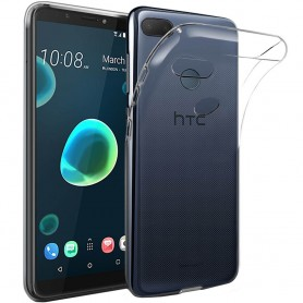 Mobilskal HTC Desire 12 Plus Silikon skal Transparent