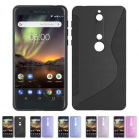 S Line silikon skal Nokia 6.1 2018 mobilskal skydd caseonline
