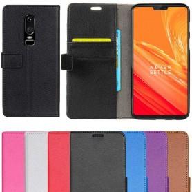 Mobilplånbok 2-kort OnePlus 6 mobilskal fodral skydd