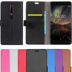 Mobilplånbok 2-kort Nokia 6.1 2018 mobilskal fodral skydd