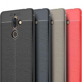 Läder mönstrat TPU skal Nokia 7 Plus mobilskal