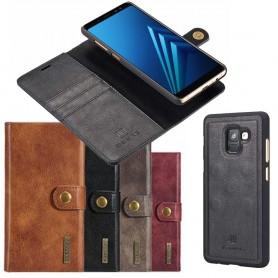 Mobil lommebok Magnetisk DG Ming Samsung Galaxy A8 2018 mobiltelefon veske