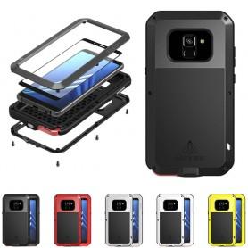 LOVE MEI Powerful Samsung Galaxy A8 Plus 2018 lifeproof metallskal stålskal