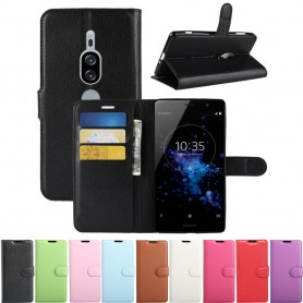 Mobil lommebok 3-kort Sony Xperia XZ2 Premium