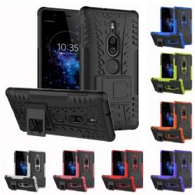 Støtsikker skall med stativ Sony Xperia XZ2 Premium CaseOnline mobil deksel