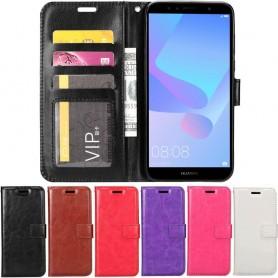 Mobilplånbok 3-kort Huawei Y6 2018 mobilskal fodral planbok