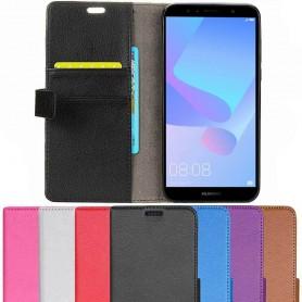 Mobilplånbok 2-kort Huawei Y6 2018 mobilskal fodral caseonline