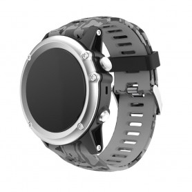 Camo Armband Garmin Fenix 3 / 5X (grå)