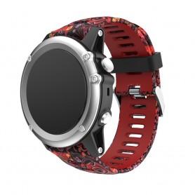 Camo Armband Garmin Fenix 3 / 5X (röd jellyfi) CaseOnline