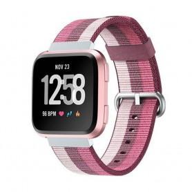 Nylon Armband till Fitbit Versa - Röd