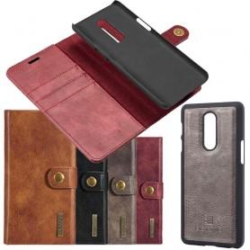 Mobilplånbok 2i1 Magnetisk DG Ming OnePlus 6 mobilskal