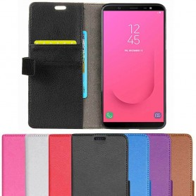 Mobilplånbok 2-kort Samsung Galaxy J8 2018 mobilskal fodral caseonline