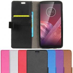 Mobil lommebok 2-kort Motorola Moto Z3 Play mobildeksel