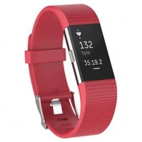 Sport Armband till Fitbit Charge 2 - Mörkrosa