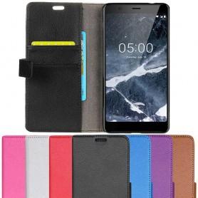 Mobil lommebok 2-kort Nokia 5.1 2018 mobiltelefon veske