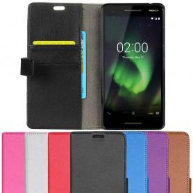 Mobilplånbok 2-kort Nokia 2.1 2018 mobilskal-fodral-caseonline