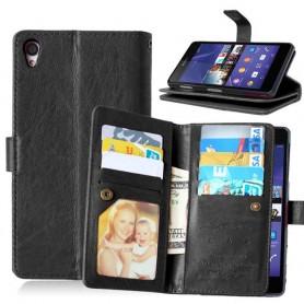 Dobbeltklikk Flexi 9-kort Sony Xperia Z2 D6502 mobiltelefonveske