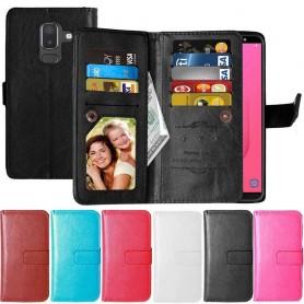 Dubbelflip Flexi 9-kort Samsung Galaxy J8 2018 mobilskal fodral väska