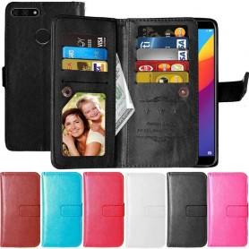 Dubbelflip Flexi 9-kort Huawei Y7 2018 mobilskal fodral plånbok