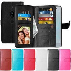 Dubbelflip Flexi 9-kort Sony Xperia XZ2 Premium mobilskal fodral plånbok