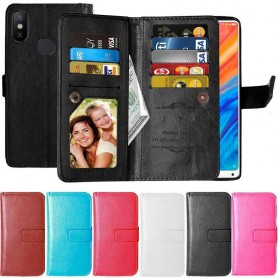 Dubbelflip Flexi 9-kort Xiaomi Mi Mix 2s mobilskal fodral väska