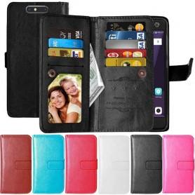 Dubbelflip Flexi 9-kort ZTE Blade V8 mobilskal fodral plånbok
