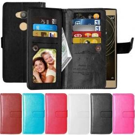 Dubbelflip Flexi 9-kort Sony Xperia L2 mobilskal fodral väska