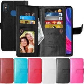 Dubbelflip Flexi 9-kort Xiaomi Mi 8 mobilskal fodral