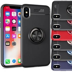 Slim Ring Case Apple iPhone XS Max mobilskal magnet bilhållare