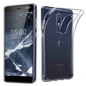 Nokia 5.1 2018 silikonetui Gjennomsiktig mobilskall