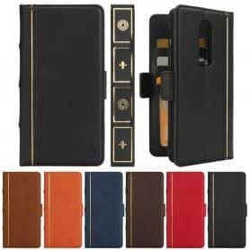 Retro Book Wallet 2i1 OnePlus 6 mobilskal fodral