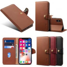 Denior Mobilplånbok läder 3-kort Apple iPhone XR skinn fodral skal caseonline