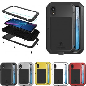 LOVE MEI Powerful Apple iPhone XR mobilskal stål aluminium skydd lifeproof