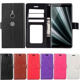 Mobilplånbok 3-kort Sony Xperia XZ3 fodral mobilskal