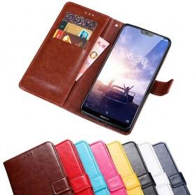 Mobilplånbok 3-kort Nokia 6.1 Plus mobilskal fodral skydd