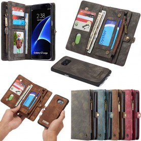 Multiplånbok 11 kort Samsung Galaxy S7 Edge mobilskal fodral väska caseme