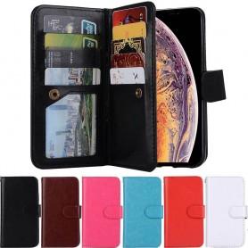 Dubbelflip Magnet 2i1 avtagbart skal 9kort Apple iPhone XS Max mobilskal